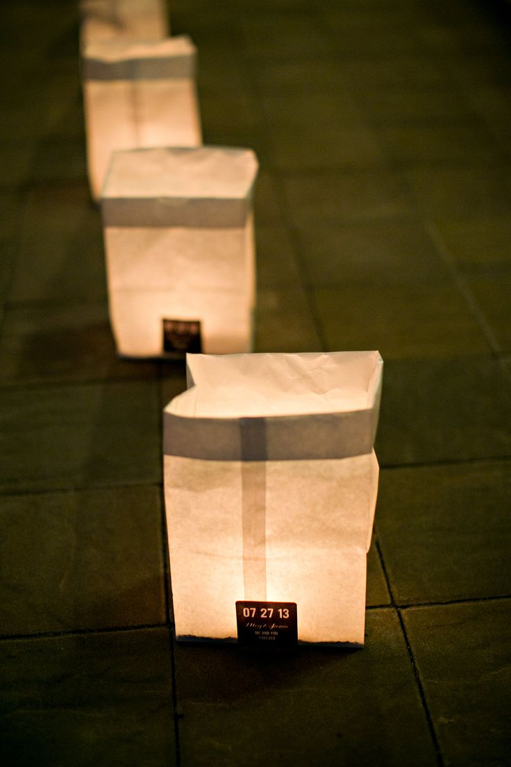 52 best diy wedding luminaries images on pinterest weddings wedding luminaries solutioingenieria Image collections