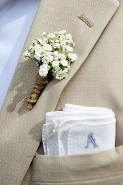 Baby Breath Boutonniere >> Cute, simple and inexpensive! - Ligaya