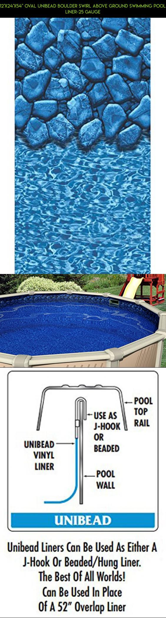 """12'x24'x54"""" Oval Unibead Boulder Swirl Above Ground Swimming Pool Liner-25 Gauge #pools #gadgets #camera #kit #racing #parts #technology #tech #shopping #products #plans #fpv #24x54 #drone"""