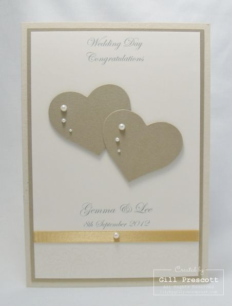 Wedding card, but could adapt for Anniversary  or Valentine's card. Visit our website to view the catalogues and place your orders http://www.stampinup.net/esuite/home/stampinupatthewarren/catalogs