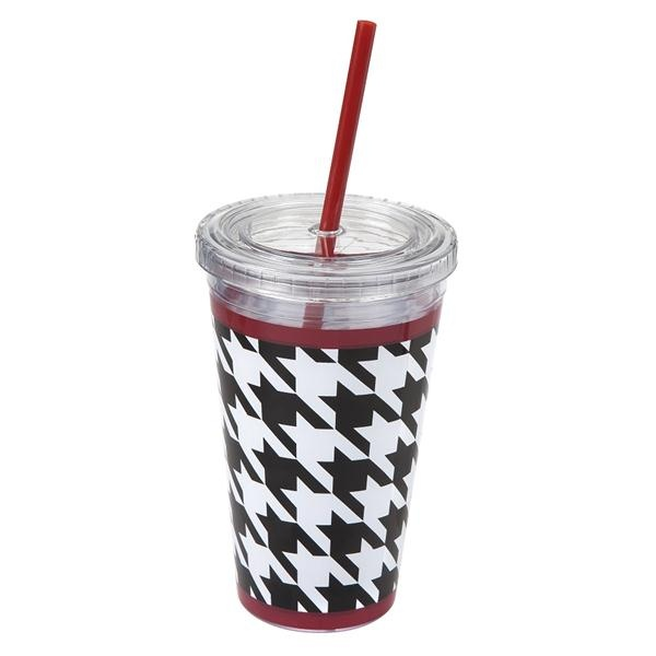 Houndstooth insulated cup