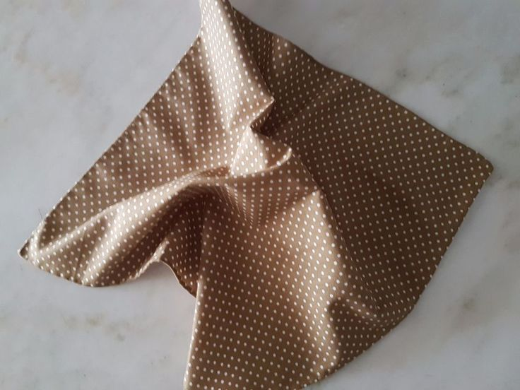 Handmade Pocket Square Handkerchief 100% Cotton Taupe brown white polka dot…