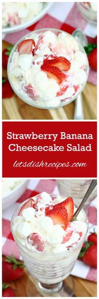 Strawberry Banana Cheesecake Salad Recipe