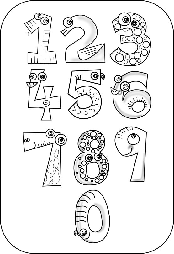 kablam_number_animals_black_white_line_art_coloring_book_colouring_drawing-555px.png 555×811 pixels
