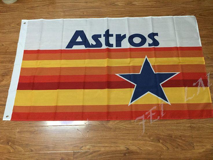 MLB Houston Astros Logo MLB Team flag Banne 100D digital printing 3X5FT #Unbranded