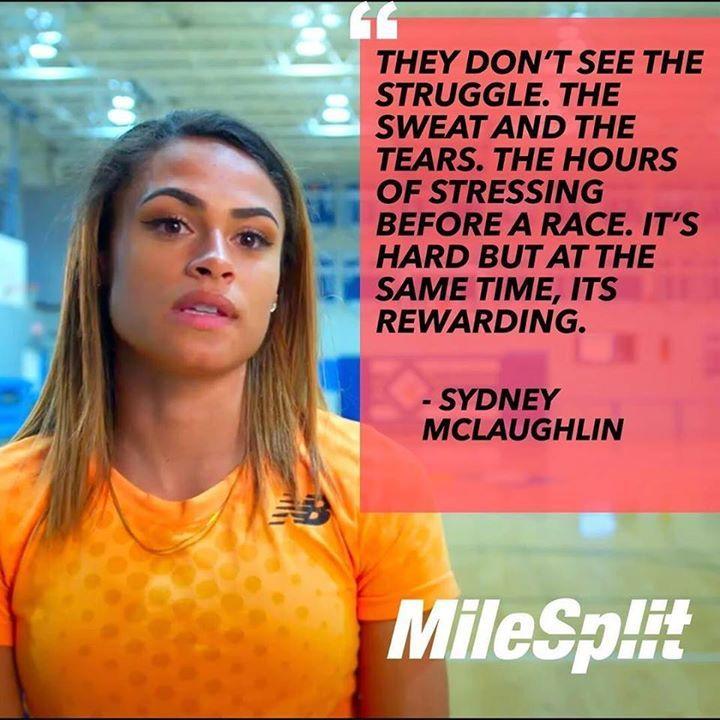 Sydney McLaughlin on what it takes to put in the hard work. Watch her MileSplit feature: Prodigy (LINK IN BIO) . . . . . #milesplit #flotrack #flofilm #tracknation #sprints #track #speed #rio2016 #olympics #sydneymclaughlin http://ift.tt/2rvi4VC