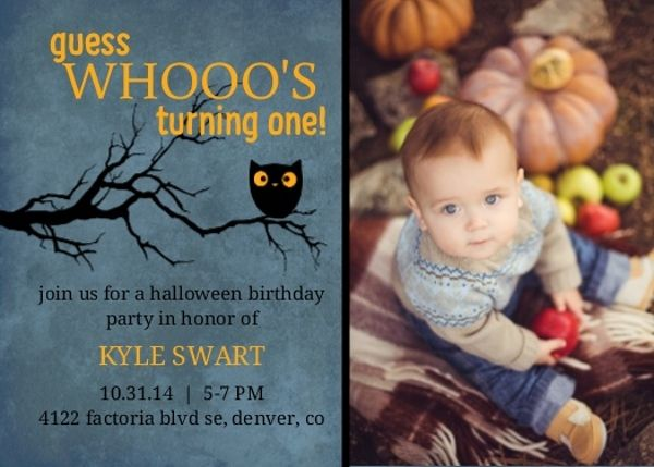 Best 25 Halloween birthday invitations ideas – Cheap First Birthday Invitations