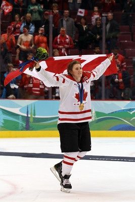 Hayley Wickenheiser. She won 3 Olympic gold and one silver medal as part of the Canadian women's hockey team and collected two MVP's along the way.