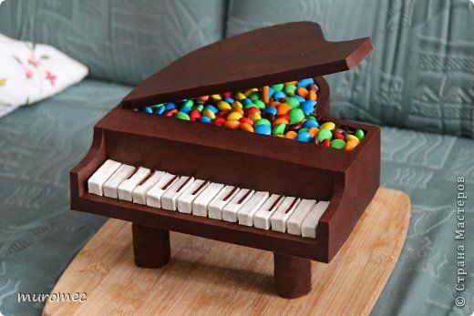 Sweet Chocolate Piano - Bildanleitung - step by step tutorial