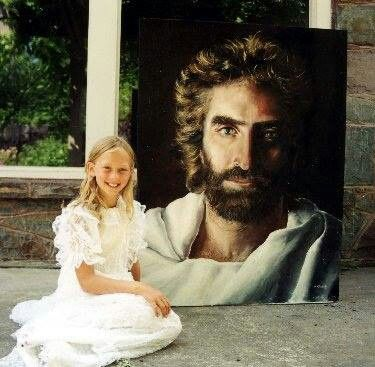 Just watched heaven is for real. My brother wondered if the painting of Jesus was actually the painting the little girl did. I looked it up and found out that it actually WAS!!! Kinda amazing