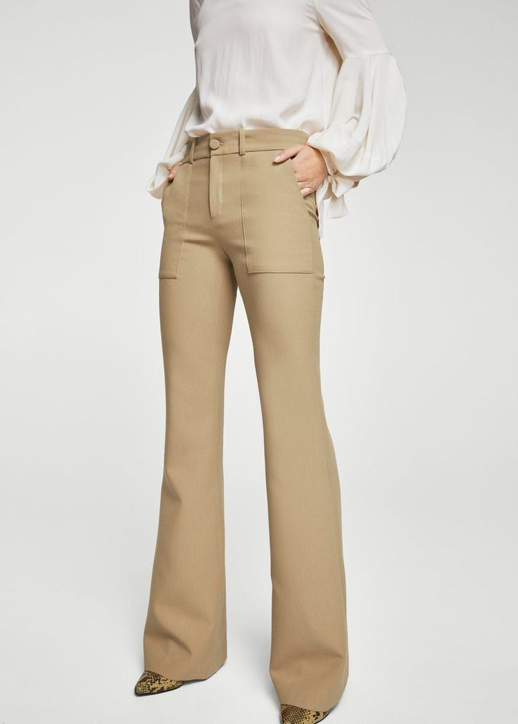 Flared trousers - Woman | MANGO United Arab Emirates