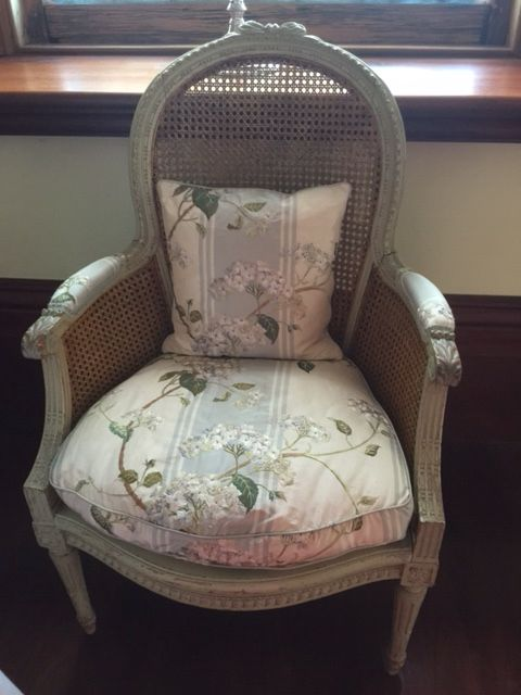 Antique French Chair With Rattan And Colfax And Fowler