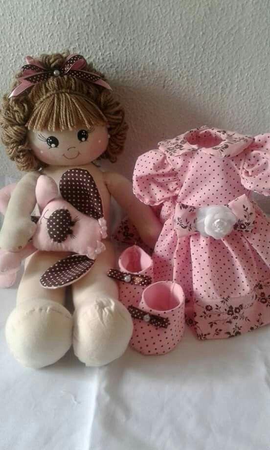 Boneca rosa cabelo bonito