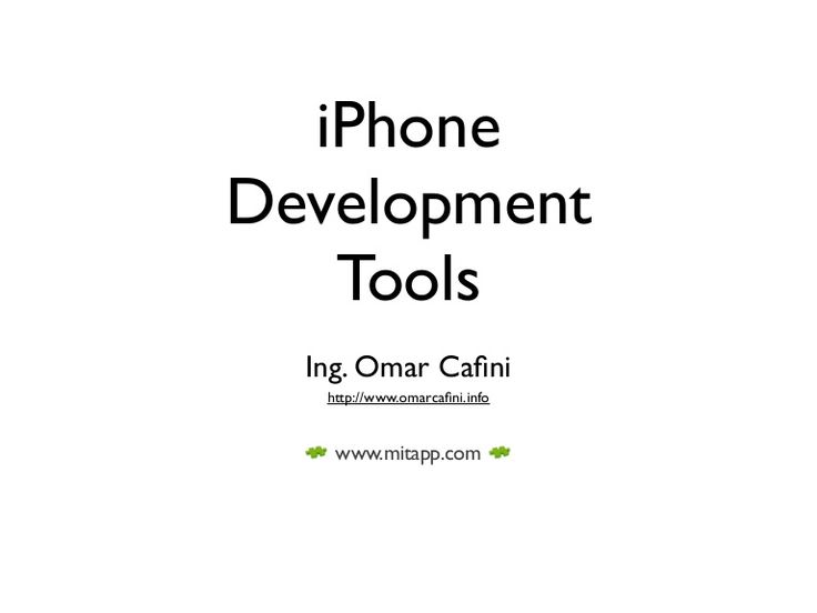 Learn more about iPhone development at http://www.slideshare.net/OmarCaf/iphone-development-tools?from_search=2