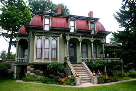 Second Empire features of Wing House Museum. Coldwater, MI.