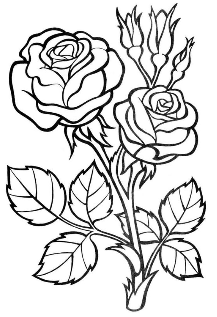 Flower Coloring Pages Easy Vegetable Coloring Page in 2020 ...
