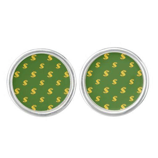 Dollar sign pattern  Cufflinks