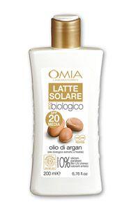OMIA EcoBioSun Latte Solare Viso Corpo Adulti SPF 20 Media Protezione 200ml. Linea  Eco Bio certificata  ICEA