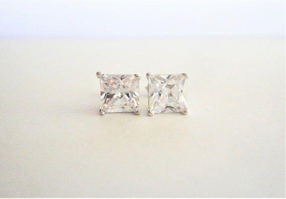 3.92ct Clear/White Natural Princess cut Diamond Simulated 925