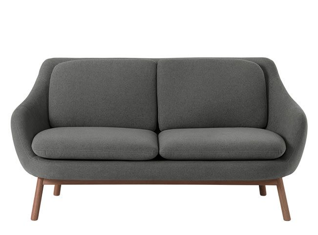 Oslo 2 Seater Sofa Marl Grey With Dark Stained Oak Legs Seater Sofa 2 Seater Sofa Sofa