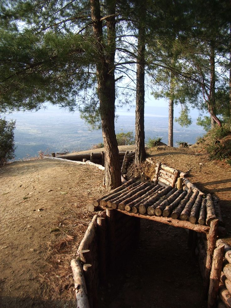Anzac trenches preserved at Gallipoli, Turkey.