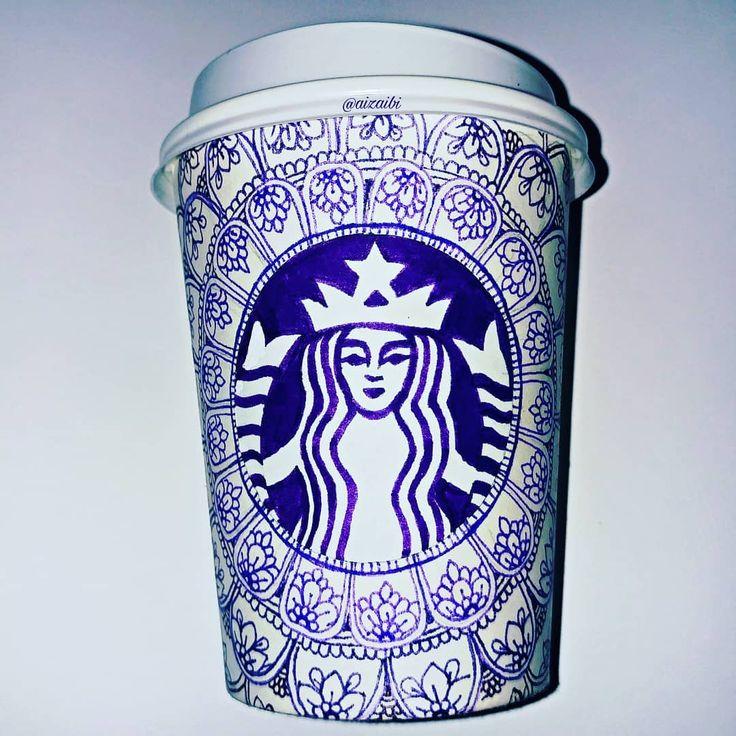 how to draw the starbucks coffee logo