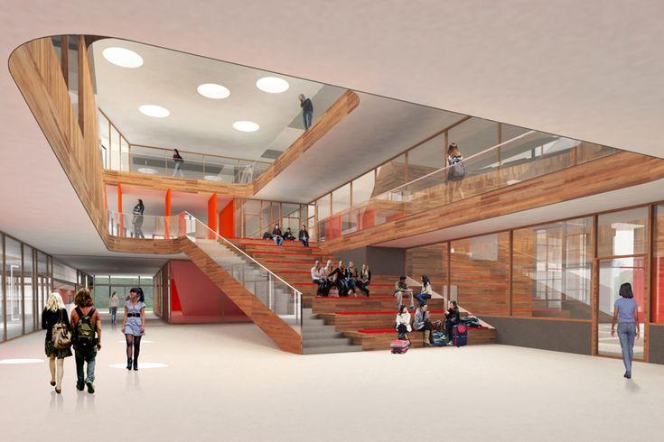 noorderpoort college, stadskanaal, netherlands  image courtesy of mecanoo architects