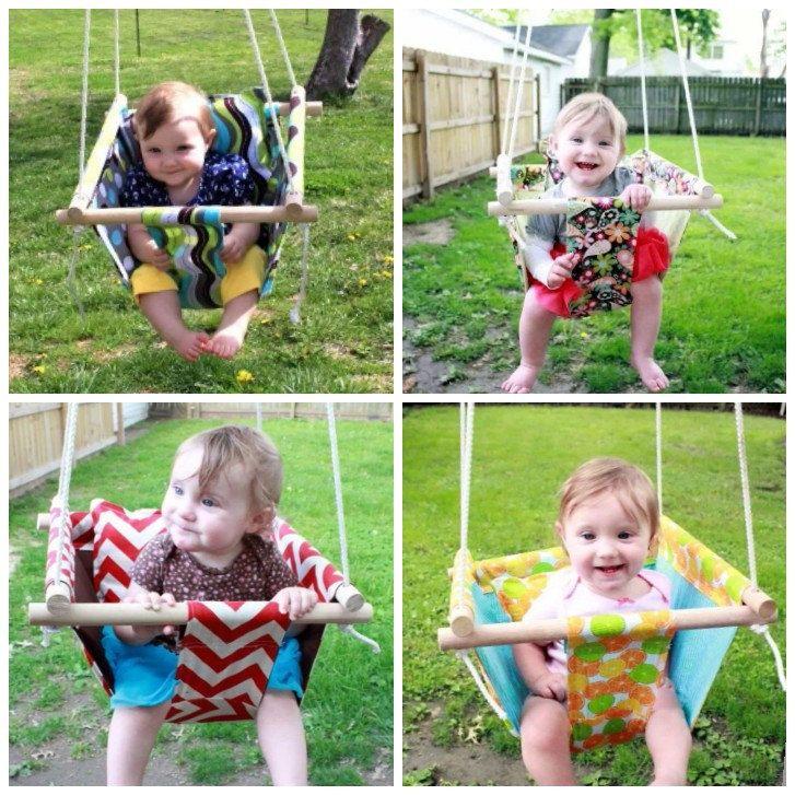25 best baby swings ideas on pinterest burlap baby diy for Diy kids swing