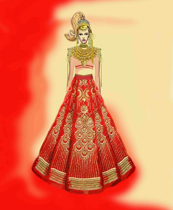 Manish Arora - Indian Bridal Couture Fashion - illustrations