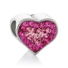 Pink Pave Crystal Heart Bead Charm Amy's Hallmark 601.898.8755 Renaissance at Colony Park Ridgeland, MS @Hallmark