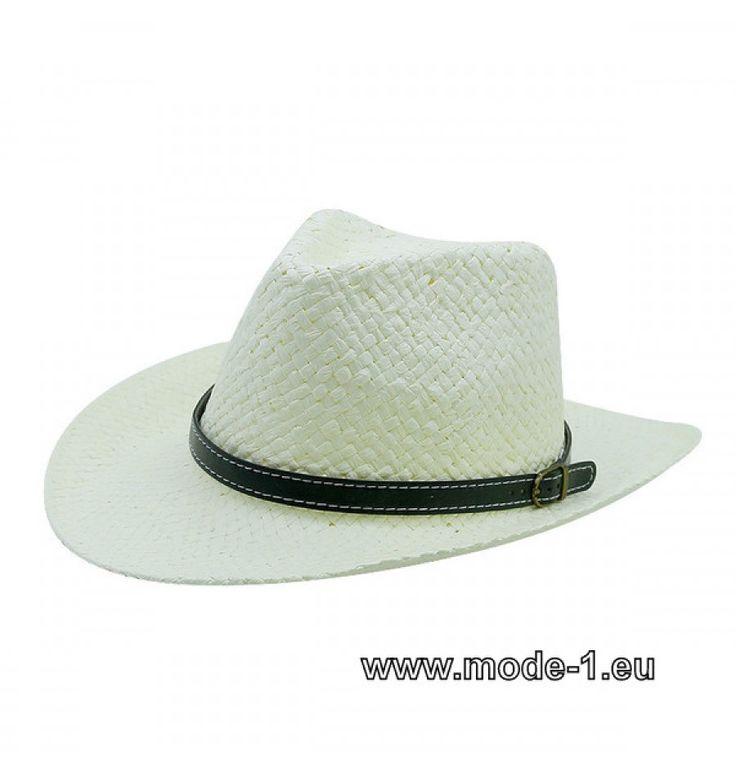 Herren Stroh Hut in Weiß
