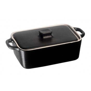 Cookplus Dikdörtgen Casserole Fırın Kabı Siyah