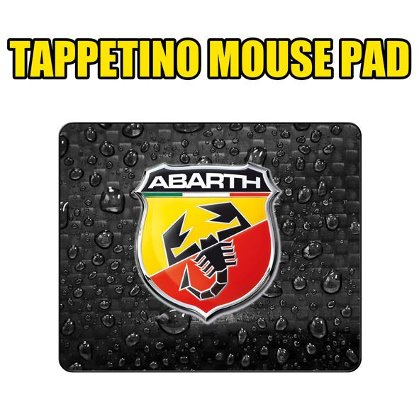 TAPPETINO MOUSE PAD TIPO abarth 500 fiat sport rally
