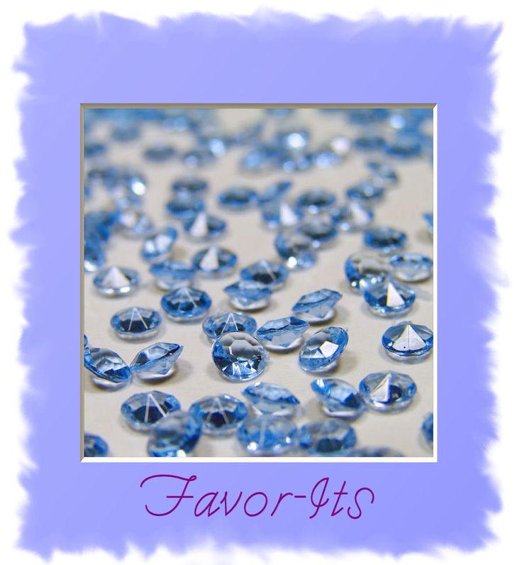 10,000 Diamond Confetti 2/3 carat- Wedding Frozen Winter Theme Party Decorations