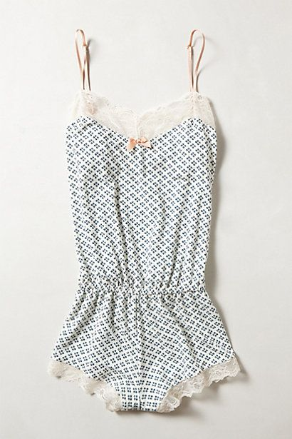 Pajamas! This is cute or more like the material of the red and white polka dot ones I have from Victoria's Secret.