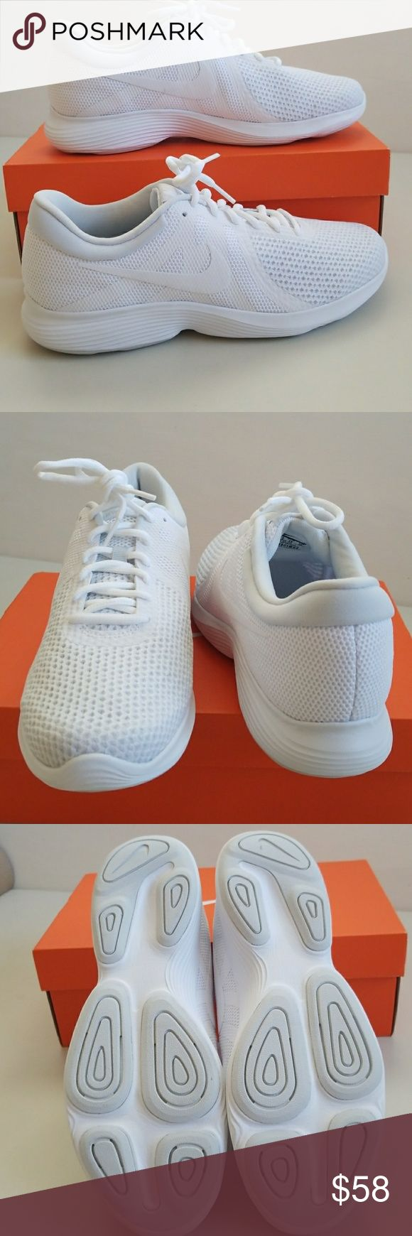 NWT Nike Wide Width New Nike crisp white wide width shoes. Nike Shoes Athletic Shoes