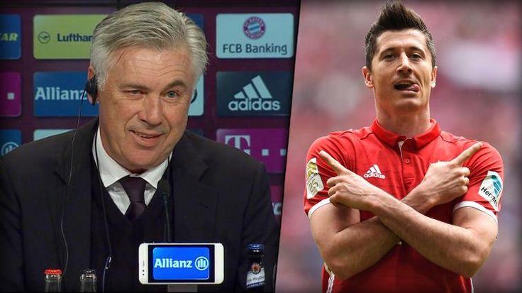 Bayern-Trainer Carlo Ancelotti lobt Robert Lewandowski nach seinem Gala-Spiel gegen Augsburg in den höchsten Tönen.