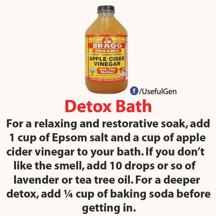 twice a week, I just add 2-3 cups of ACV :: Apple Cider Vinegar Detox Bath
