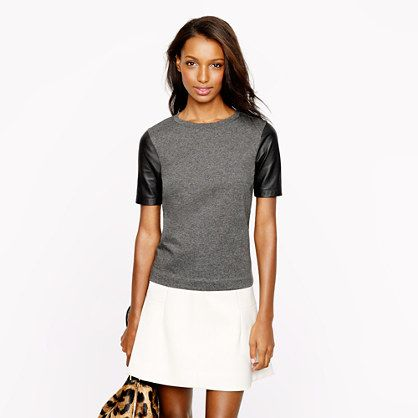 I know it's a little trendy but I love all the leather accents. JCREW - Women's New Arrivals