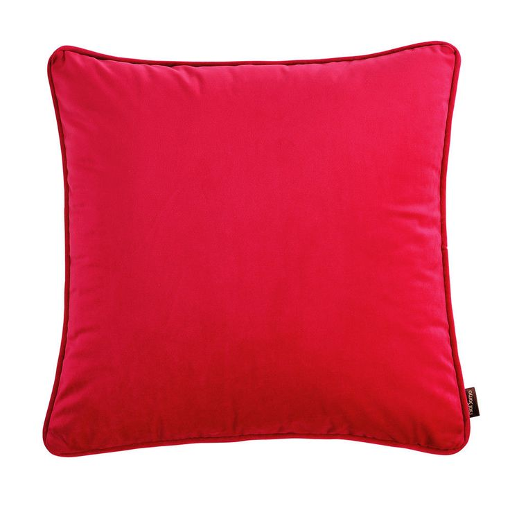 1Pc Red Home Couch Decor Throw Pillow Case Velvet Sofa Cushion Cover 18u0027u0027X18