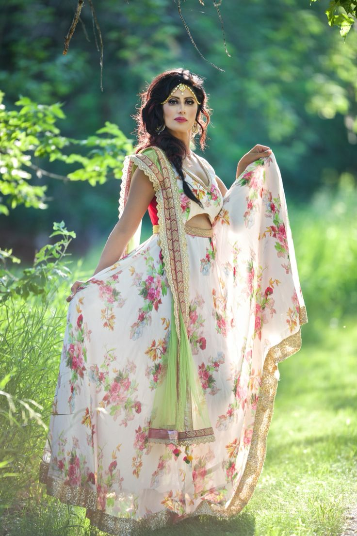 Floral Anarkali.. ❤️is in the Air!! Indo-Western Formal Wear !! Fusion wear at its best ❤️