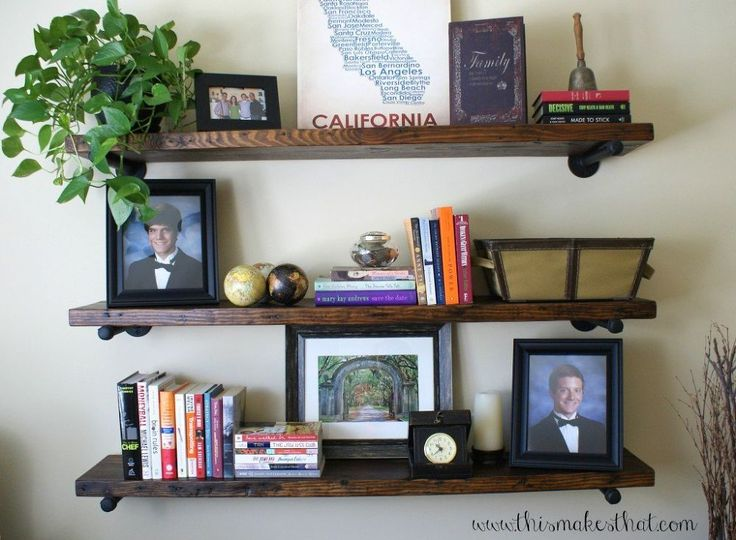 restoration hardware inspired rustic shelves