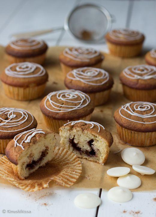 Kinuskikissa: kanelisydanmuffinssit
