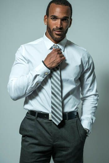 """Suit and Tie  """"People might look at me and think, oh, he's just a gym guy, but I make money in a suit and tie every day,"""" insists Williams, who we say, looks equally lovely in and out of a suit."""