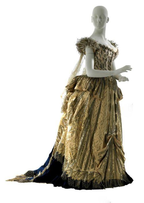"Worth ""electric light"" fancy dress, 1883"