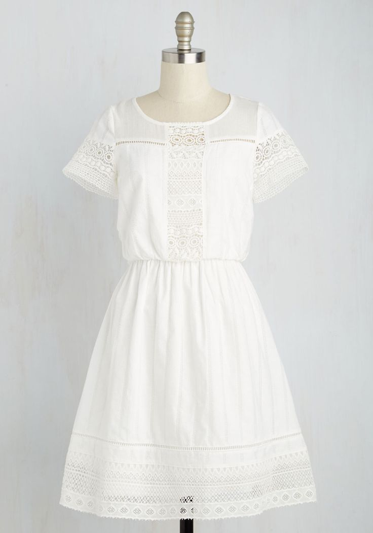 Cutie on Duty Dress. Suit up in this sweet white dress and report for your role as the scenes most precious stylista. #white #modcloth
