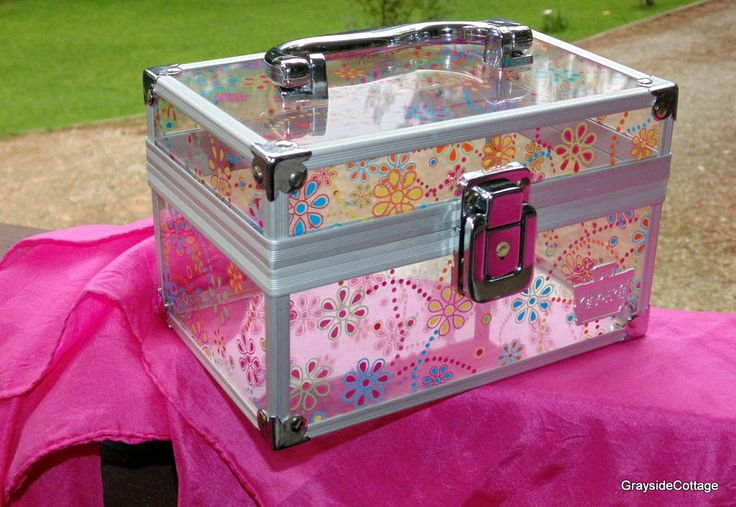 CABOODLES YIKES! How Cute is This? Acrylic Purse, Cosmetic Case, Travel Case, Makeup case, Storage Box. Really Cute Floral Pattern by…