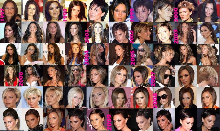 Image result for victoria and david beckham hair styles time line