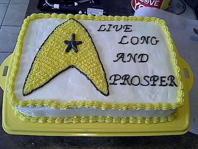star trek cake, live long and prosper