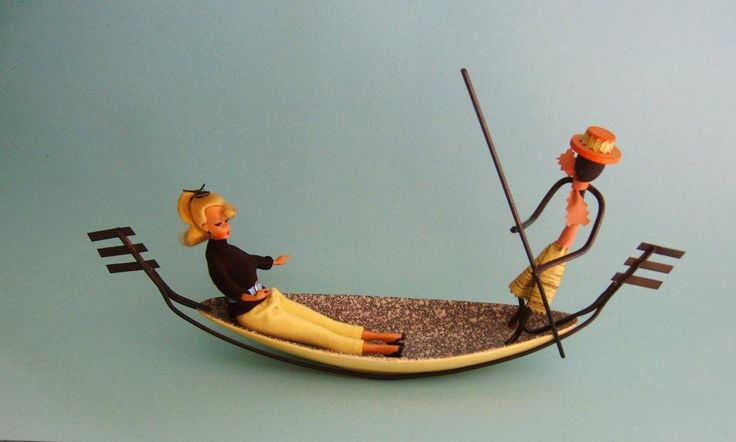 JD100884 Lilli mit Gondoliere Drahtmännchen 50er Jahre Anbieteschale